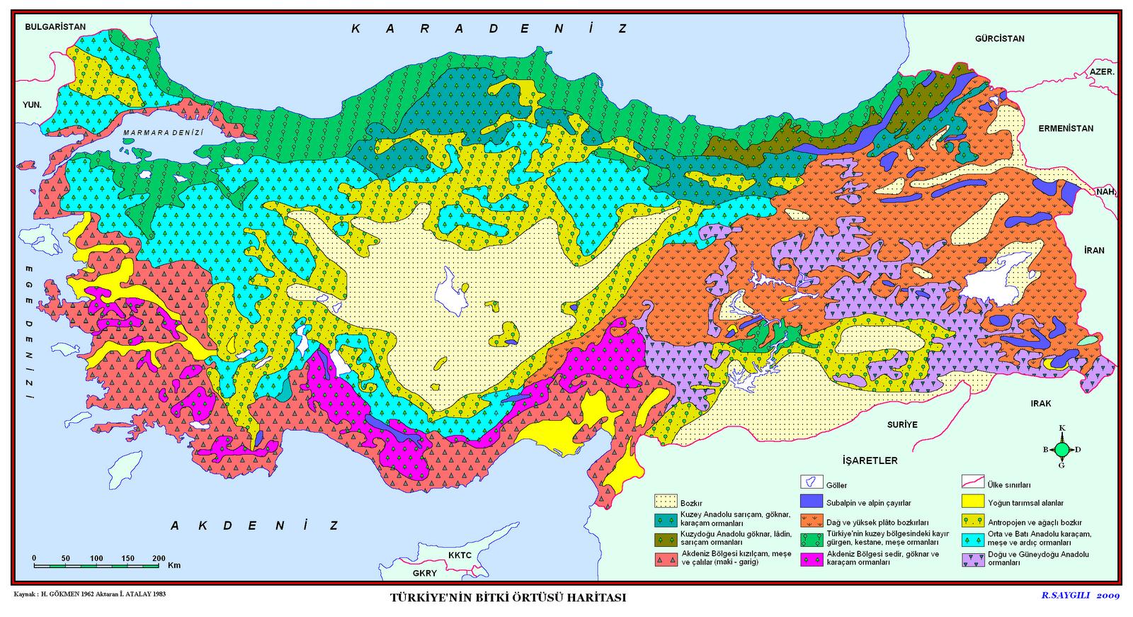 Türkiye'nin Bitki Örtüsü Haritası