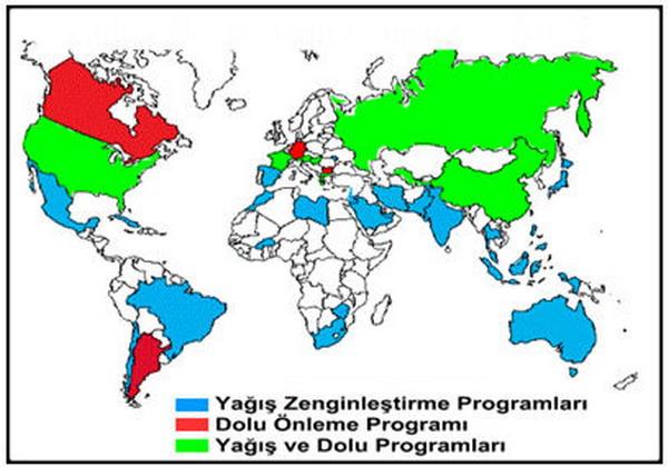 BUlut Tohumlama Yöntemini 24 ülke uygulamaktadır.