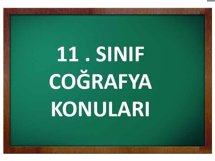 11.Sınıf Coğrafya Konuları