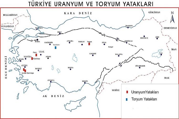 Türkiye Uranyum Toryum Yatakları