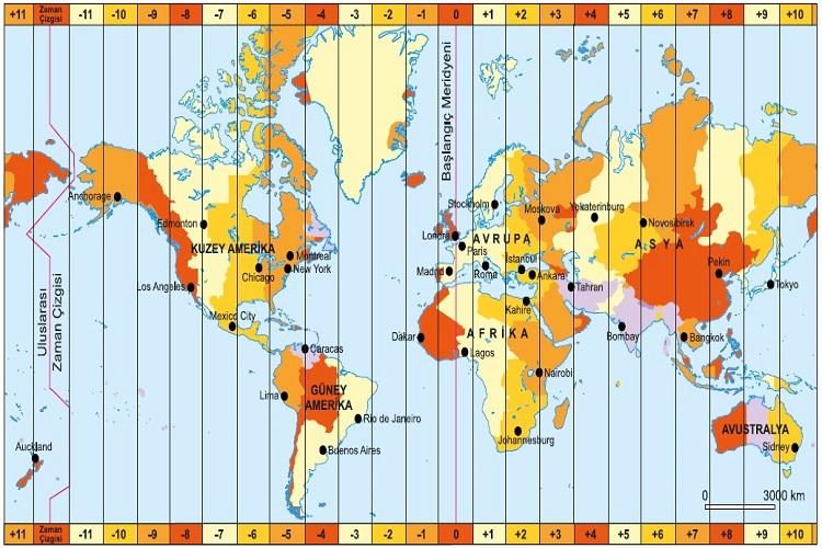 Uluslar Arası saat Dilimleri