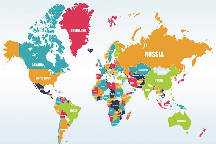 Kıta'lara Göre Dağılımıyla Ülkeler ve Başkentleri